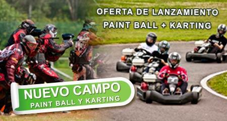 Paint Ball y Karting en Ruidera. Oferta de lanzamiento.